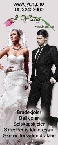 Brudekjoler og selskapskjoler fra www.jyang.no Tlf. 22423000