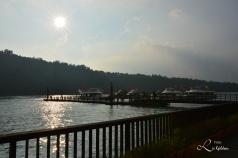 På båttur på Sun Moon Lake