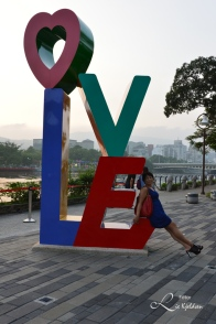 Love River i Kaohsiung City, Taiwan