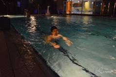 Vår svømmerunde på hotels svømmebaseng