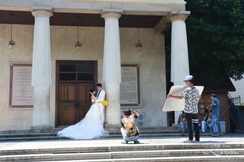 Mange brudeparene tok bryllupsbilder i Gulangjy