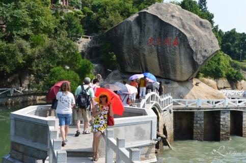 Veien opp til piano museum i Gulangyu