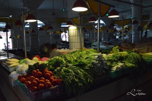 Grønnsaker utsalg i Taipei marked