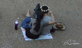 Kjærestepar på stranda i Gulangyu