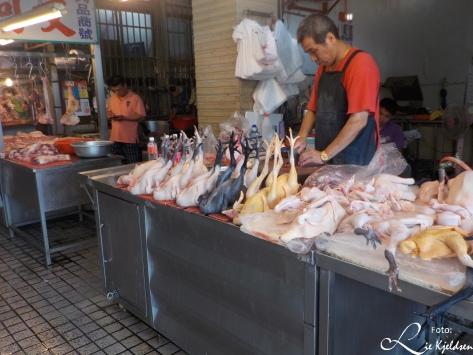 Kylling utsalg på markedet