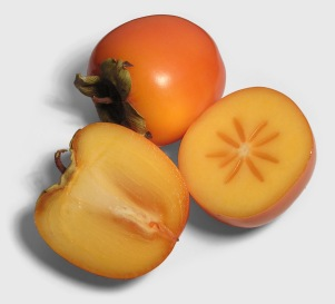 persimmon frukt (sharon, kaki)