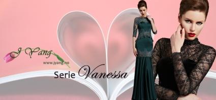 Reklame: Nye galla- og ballkjoler serie Vanessa fra www.jyang.no Tlf. 22423000