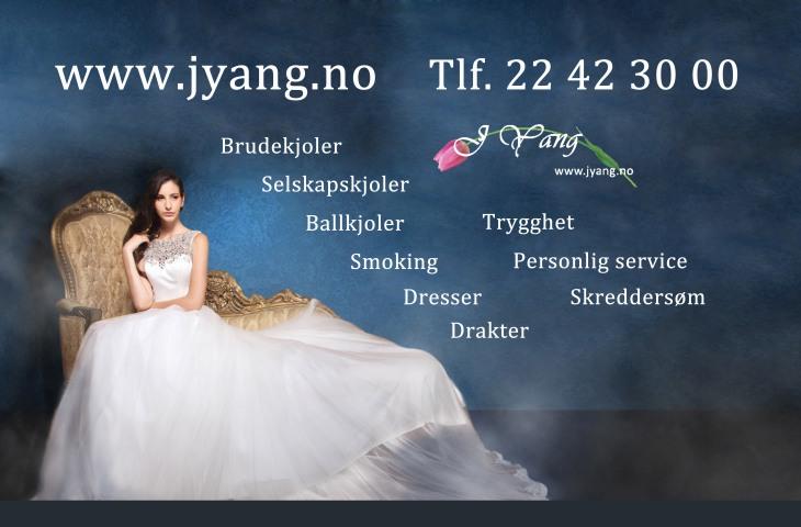 Annonse: Brudekjoler i Oslo Vi lager din drømmekjoler og dresser www.jyang.no Tlf. 22423000