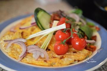 Omelett og salat