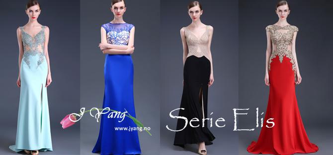 Annonse: Nye ball- og selskapskjoler serie Elis fra www.jyang.no Ferdige kjoler og skreddersydd i alle størrelser Tlf. 22423000