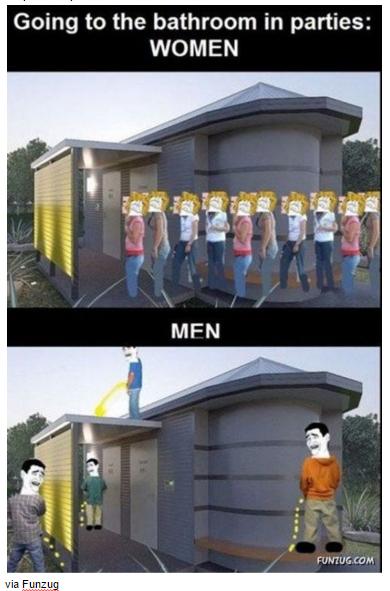 på toalett