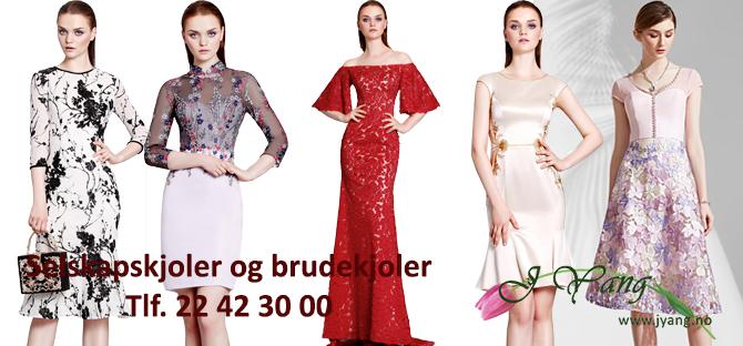 Annonse: Brudekjoler og selskapskjoler fra www.jyang.no Butikklokal i Oslo. Vi har ferdige kjoler og kan skreddersyr kjole etter kundens mål.