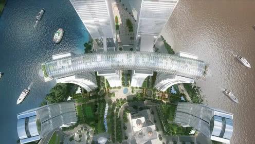 重庆300米横着建的摩天大楼 3