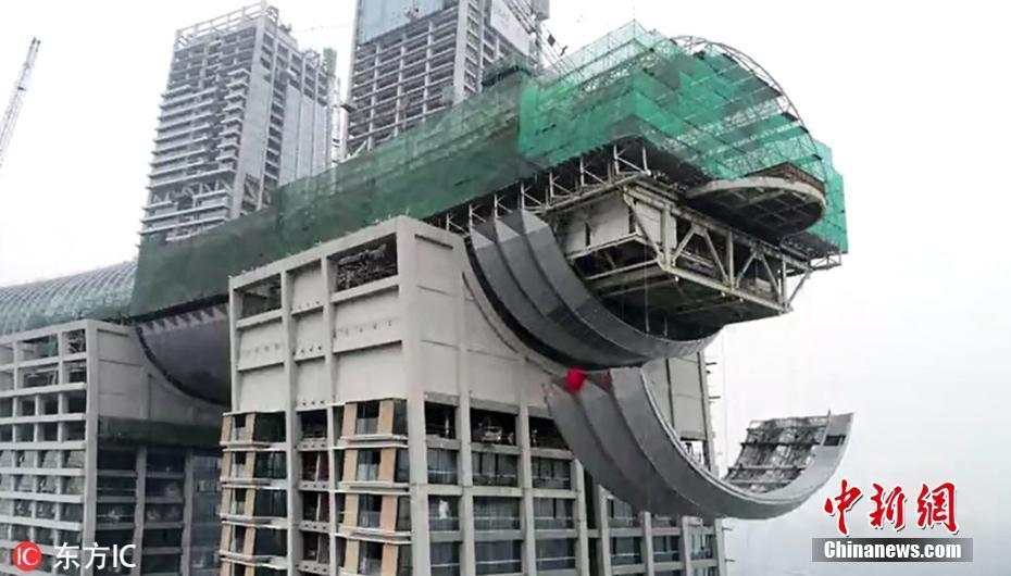 重庆300米横着建的摩天大楼